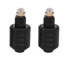 2 Packs Optical 3.5mm Female Mini Jack Plug To Digital Toslink M Audio Adapter