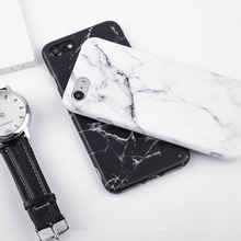 цена на Stone Marble Case for iPhone 6 6s 7 8 Plus 5 5s X XR XS Max Cases Black White Soft Squishy phone Case Cover for iphone 7 Coque
