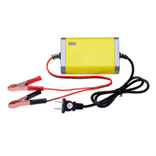 Car Battery Charger Automobile Motorcycle Intelligent LCD (12V 6A) + (12V 2A) стоимость