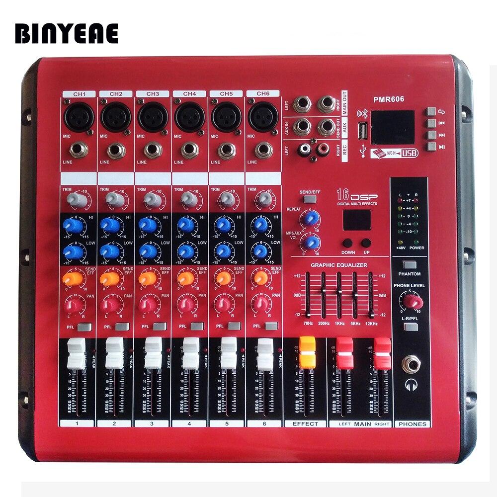 Tragbares Audio & Video Audio Mixer Mit Usb 4 Kanal F7 Mixer Home Audio Konsole Dj Ausrüstung 48 V Phantomspeisung Mit Bluetooth Bühne Ausrüstung GroßE Sorten Dj-equipment