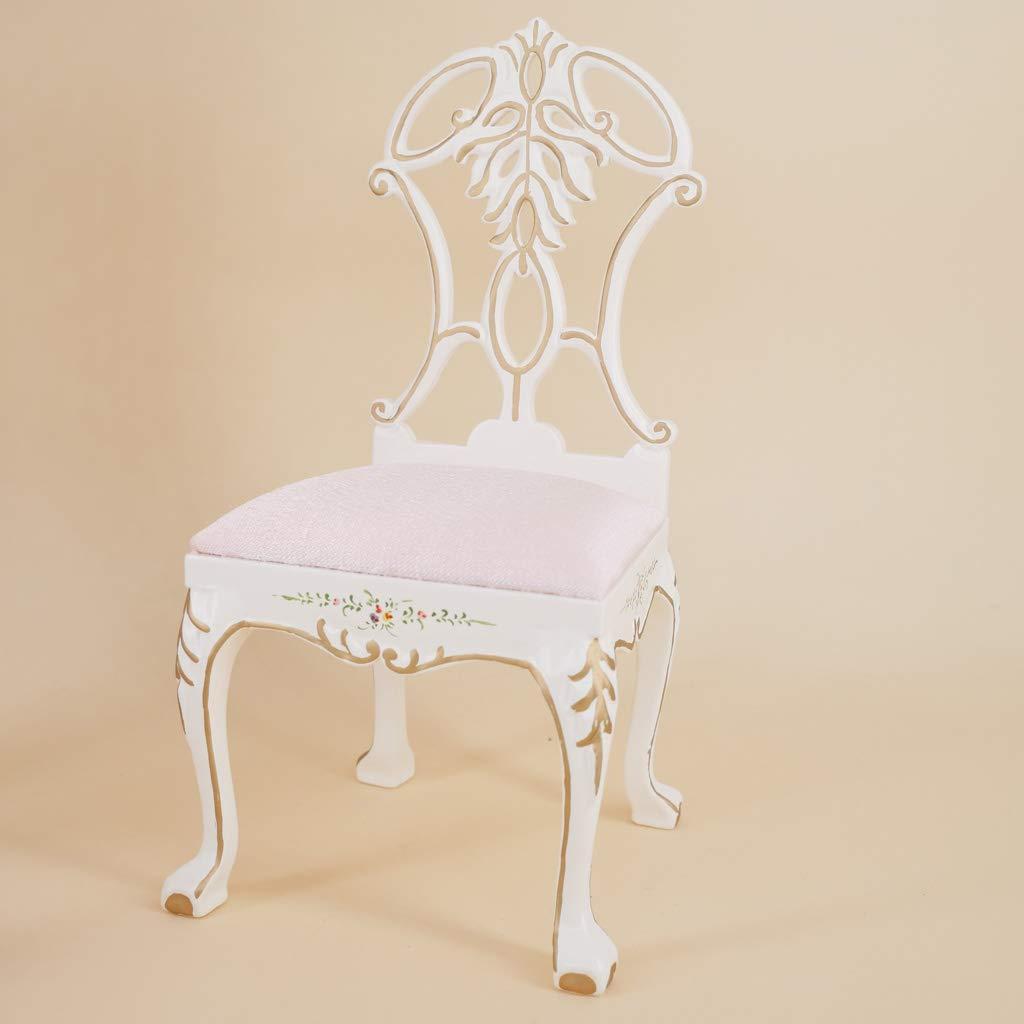1: 6 Miniature chaise en bois modèle maison de poupée meubles accessoires pour décoration Action poupées Figurines jouets cadeau pour enfants