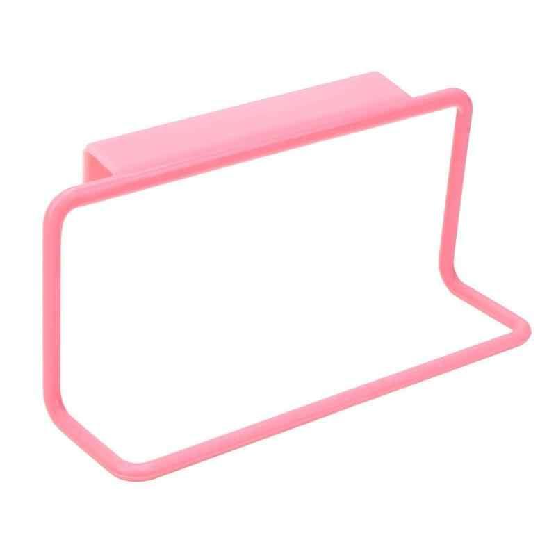 Z tworzywa sztucznego szafka wieszak na ręcznik uchwyt na gąbkę Organizer do kuchni wieszak na ręcznik wieszak Drzwi do szafki powrót organizator regał do przechowywania z półkami