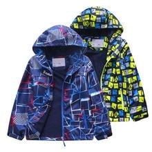 2019 Children Boys Jacket 3-12T Spring Autumn Outerwear & Coats Kids Polar Fleece Windproof Waterproof Windbreaker Hooded