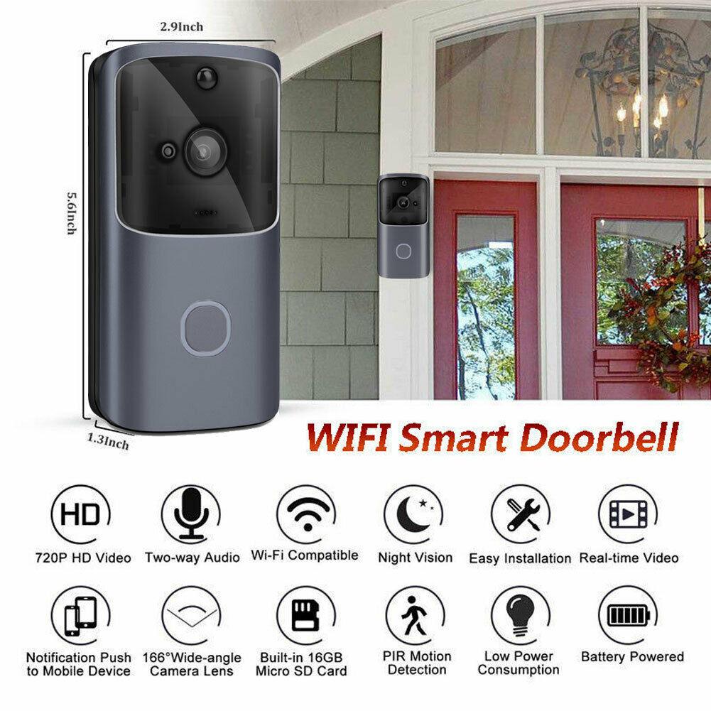 WiFi Wireless Video Doorbell Two-Way Audio Smart Door Bell Home Security Camera Night VisionWiFi Wireless Video Doorbell Two-Way Audio Smart Door Bell Home Security Camera Night Vision