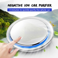 RGB Light Car Fresh Air Purifier Cleaner Negative Ion Oxygen Aromatherapy Remove Odor Eliminator Air Freshener USB Rechargeable