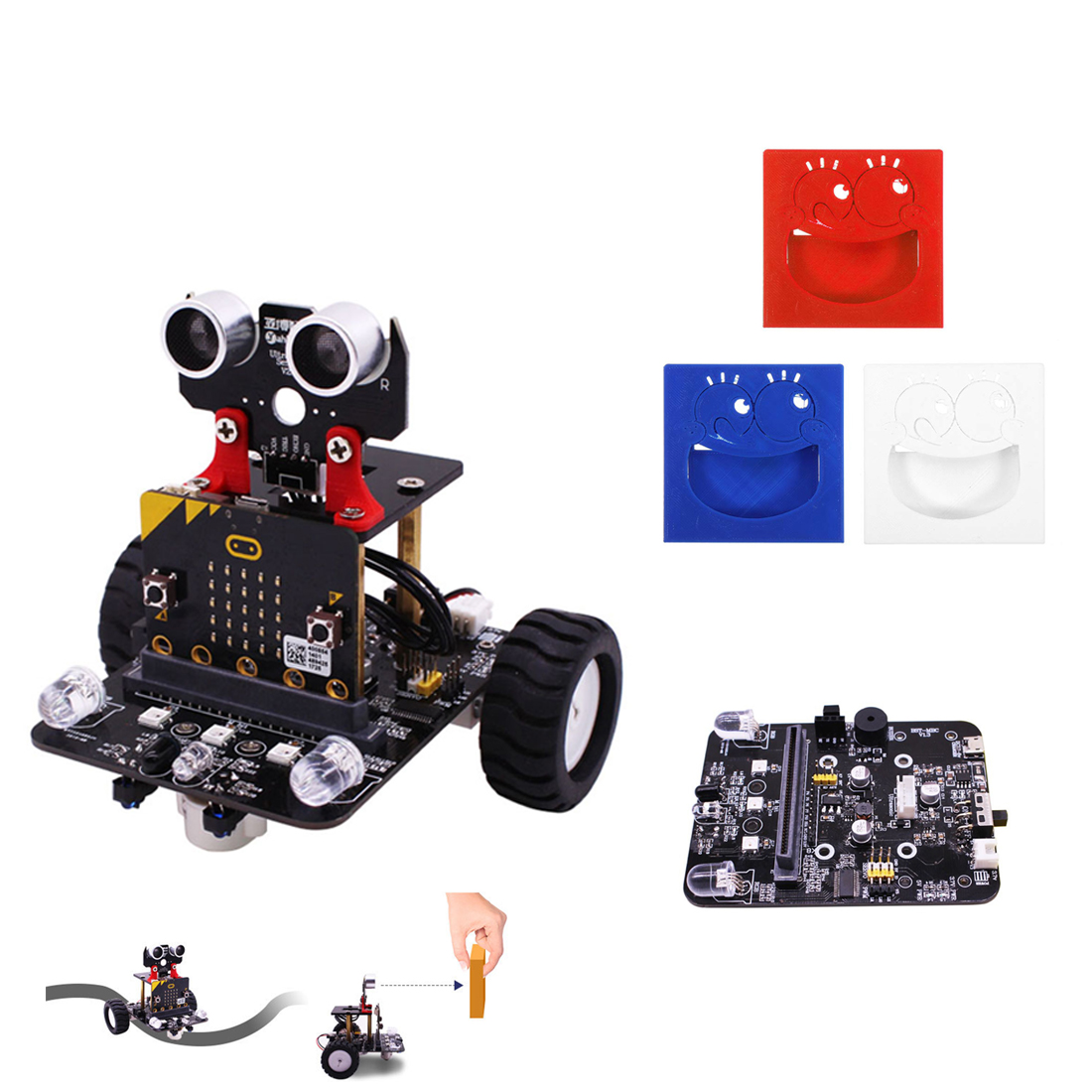 MODIKER Graphical Programmable High Tech Robot Car Toy Tracking Module Expansion Board Silicone Protective Case For Micro:bit