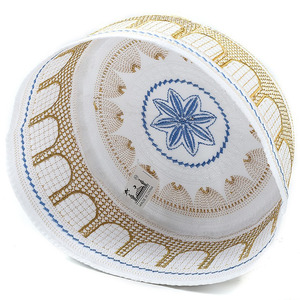 Image 2 - ערב הסעודית Mens Moslim תפילת כובעי אסלאמי מצנפת יהודית כיפה גולגולת כובע הודי כובע Topi את כובע Namaz כפת Gorro Musulman