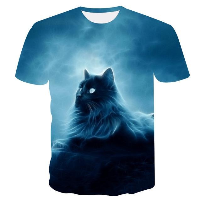 Cats 3D Printed T-shirt Women Men tshirt short Sleeve Casual Men's Fashion High Quality Clothing tees Tops Free shipping XXS-4XL 4