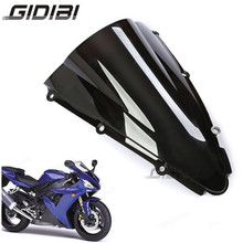 Black Motorcycle Windscreen Windshield For Yamaha YZF R1 2000 2001 ABS Double Bubble 00-01