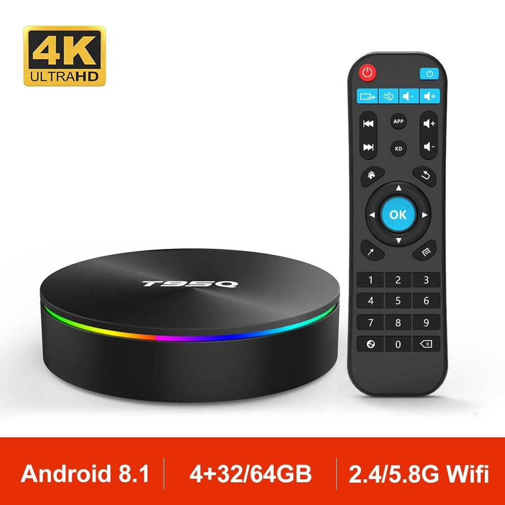 T95Q Android 8 1 Smart TV Box Set Top Box Amlogic S905X2 Quad Core 4GB 32GB