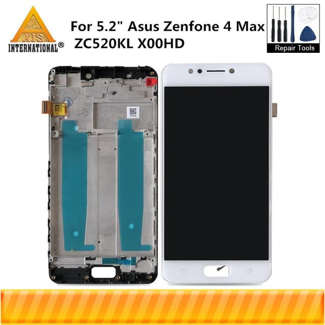"5.2"" Original Axisinternational For Asus Zenfone 4 Max ZC520KL X00HD LCD Display Screen+Touch Panel Digitizer Frame For ZC520KL"