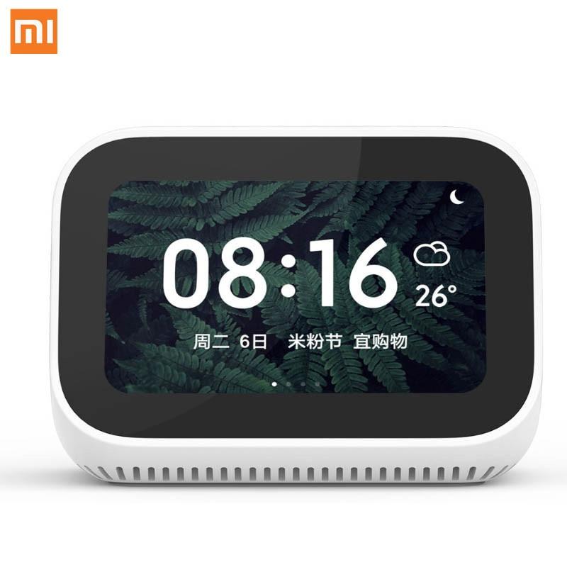 Original Xiao mi Ai écran tactile Bluetooth haut-parleur affichage numérique réveil WiFi connexion intelligente haut-parleur mi haut-parleur