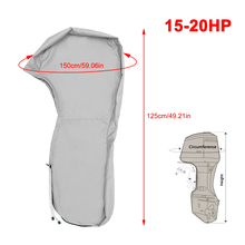 600D Boat Full Outboard Engine Cover Engine Motor Covers Protector For 15-20HP Waterproof