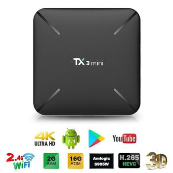 ALLOYSEED TX3 Mini Android 7.1 Smart TV Box Amlogic S905W 2GB 16GB 4K H.265 2.4G WiFi Set Top Box Media Player TX3 mini 1GB 8GB