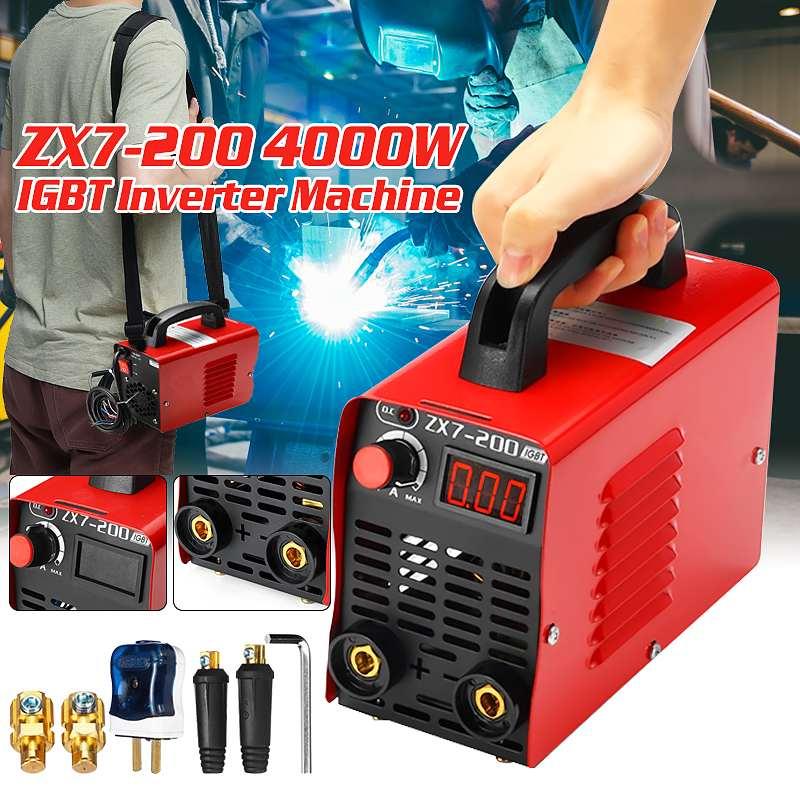 10-200A 4000W Portable Handheld Mini MMA IGBT Inverter 220V Mini Electric ARC Welding Welder-Machine Tool