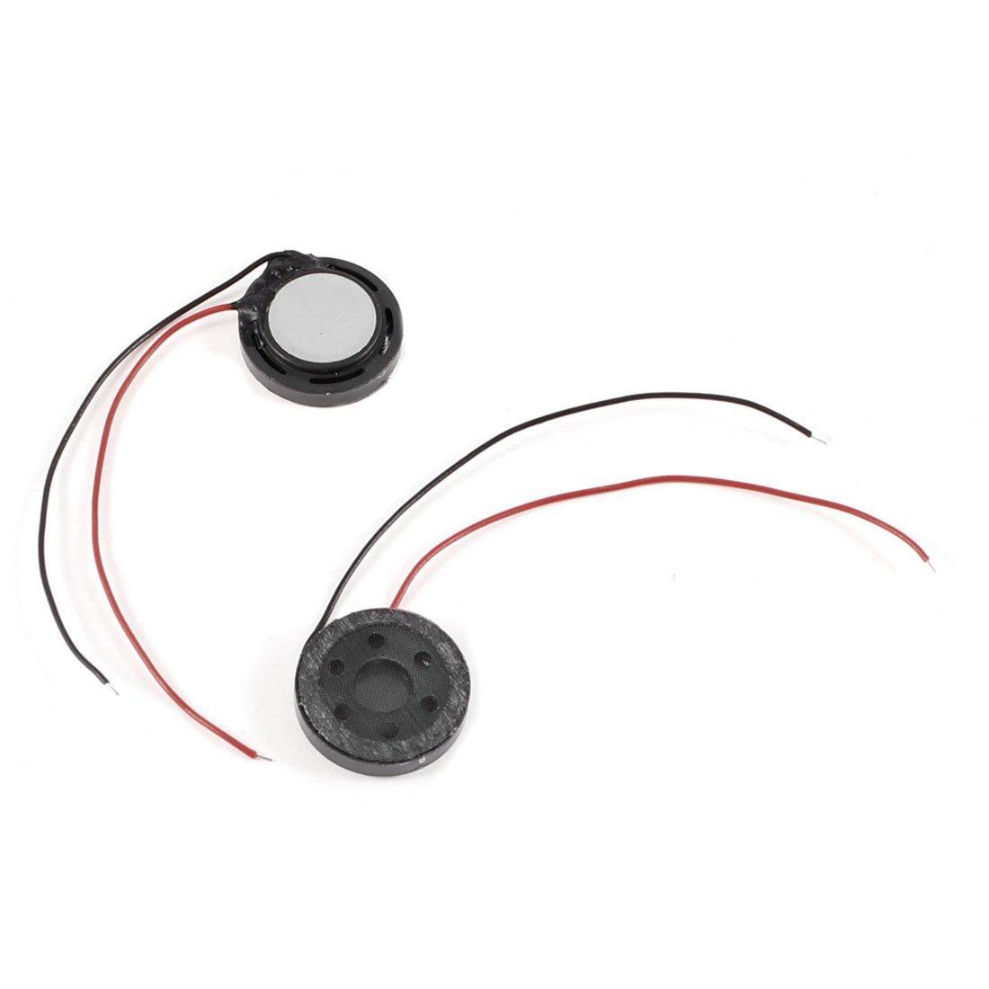 2 Pcs 15mm Round Magnet Magnetic Tweeter Speaker Horn 8 Ohm 1W