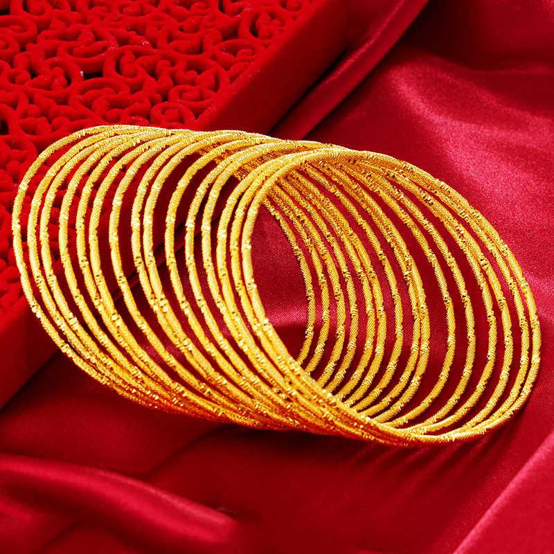 Wysokiej jakości 24k zachować kolor bransoletki wietnamu aluwialnych zwięzłe Trendy bransoletki wzory biżuteria dla dziewczyny Student