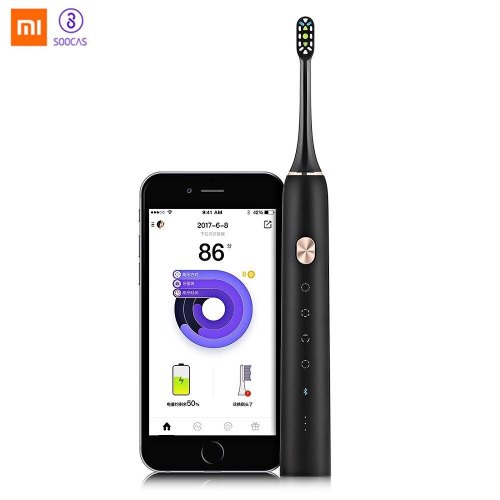 Xiaomi Mijia Soocare X3 SOOCAS Перезаряжаемые Водонепроницаемый Электрический Зубная щётка обновлен Водонепроницаемый ультразвуковая зубная щетка зуб...