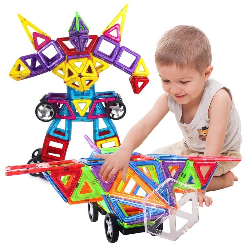 164 / 215 / 184 400 Unids Construction Game Design Model Of Magnetic Toy Building Blocks Educational Toy Mini Magnetic Plastic