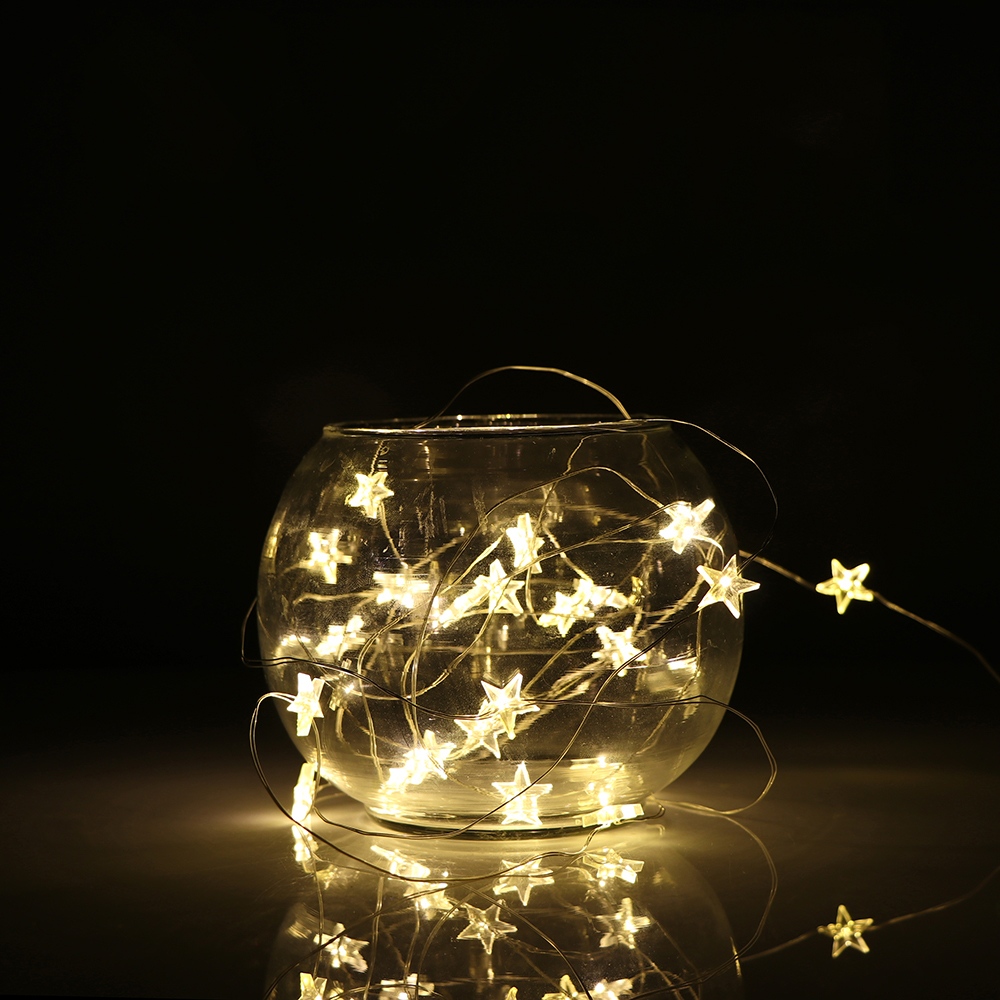 2 3m Led Copper Wire Star Curtain String Lights Lamp Fairy