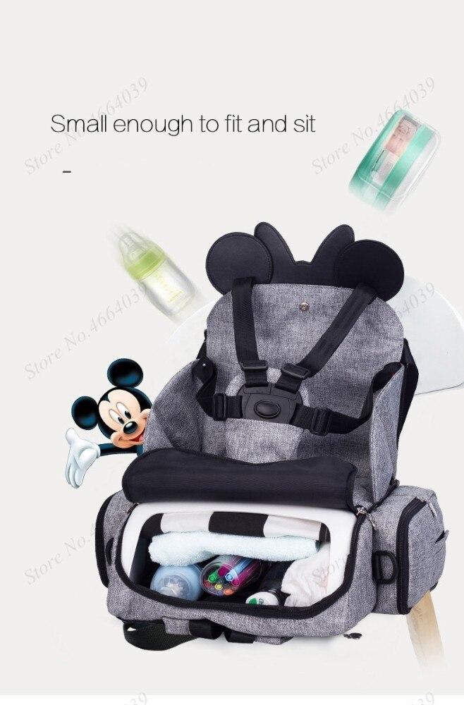 2019 Baby Luiertas Booster Seat Waterdichte Moederschap Rugzak Luiertas Mickey Mouse Verpleging Schoudertas Voor Baby Care 3