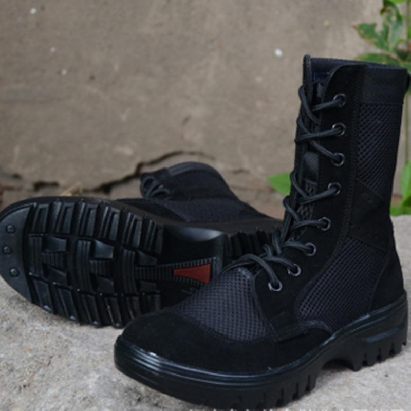 Été hommes femme randonnée en plein air Camping respirant armée tactique bottes hommes léger militaire Combat travail chaussures Botas Hombre
