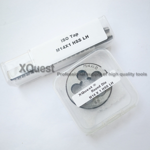 Image 1 - 2PCS Metric Left Hand Tap and die set M14 M14X2 LH Fine Thread Machine taps cutting Round Dies M14X1.5 M14X1.25 M14X1 M14X0.75