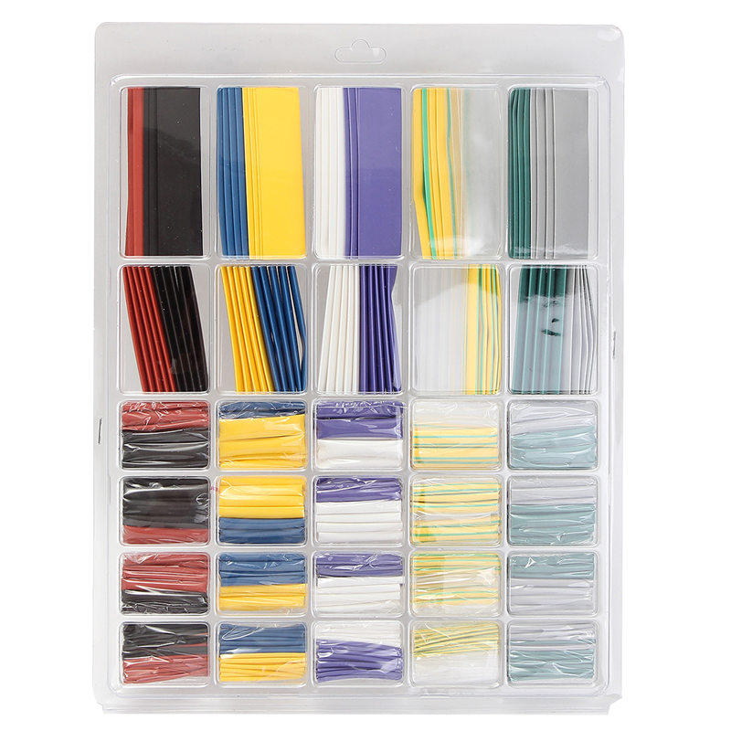 Modest 500pcs/set Assorted 10 Color 6size 2:1 Heat Shrink Tube Wire Cable Sleeving For Wrap Kit 15 Kv/mm 10.4mpa Hot New Arrival High Insulation Materials & Elements