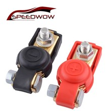 SPEEDWOW 2pcs/pair Auto Car 12V battery Terminal Connector Switch Car Battery Switch Terminal Clamp For Car Truck Caravan Boat 1 pair car battery terminal insulation clamp clips protection protector sleeve covers pvc 62 30 25mm black red