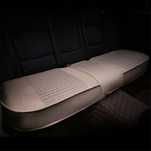 Rear Seat All-Inclusive Cushion Linen Fabric Car Cover Universal Size