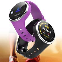 M8 Round Dial Heart Rate Blood Pressure Monitor Fitness Sports Smart Bracelet