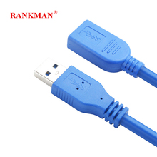 Rankman USB Extension Cable USB3.0 Cable Male to Female Data Sync Extender Cord Extension Connector for Computer PC Mouse