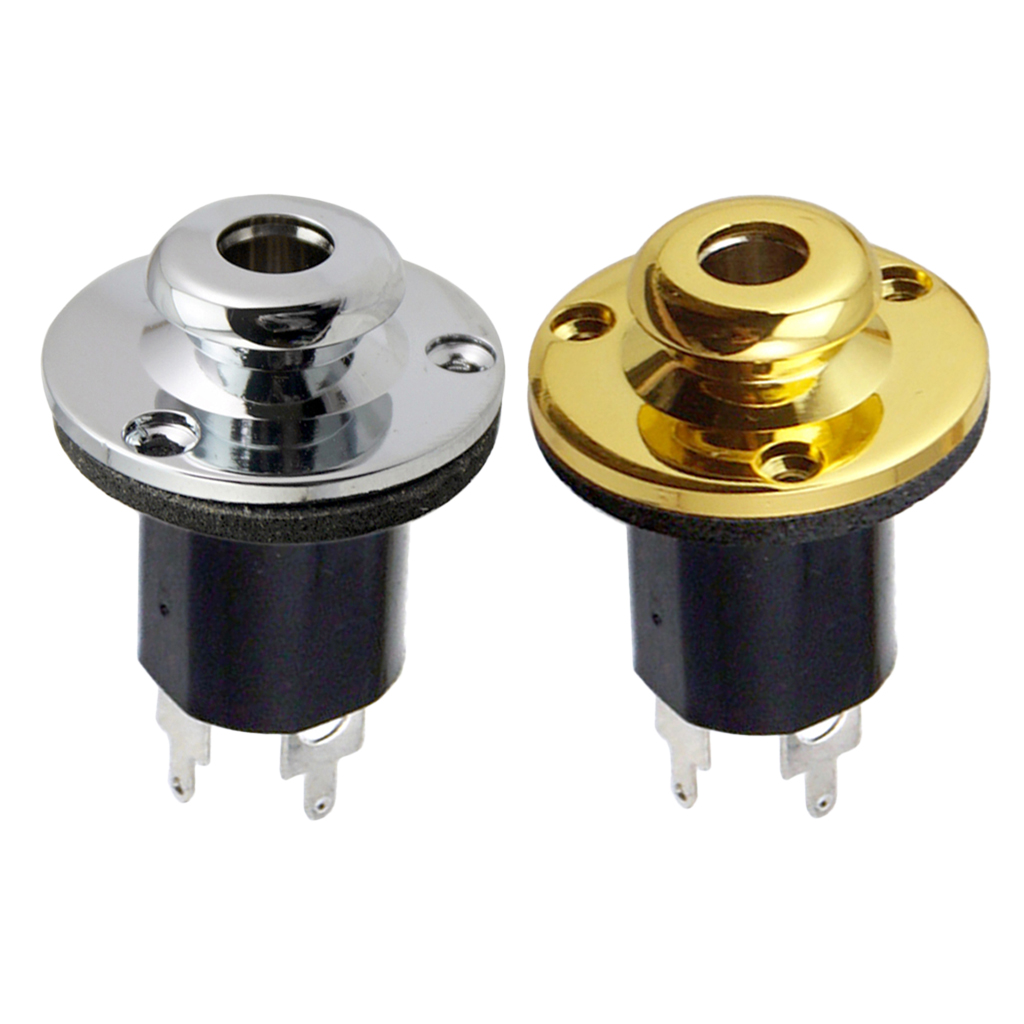 1 4 39 Jack Socket for Guitar Bass Equalizer Jack EQ Preamp End Pin Output Input Socket Parts in Guitar Parts amp Accessories from Sports amp Entertainment
