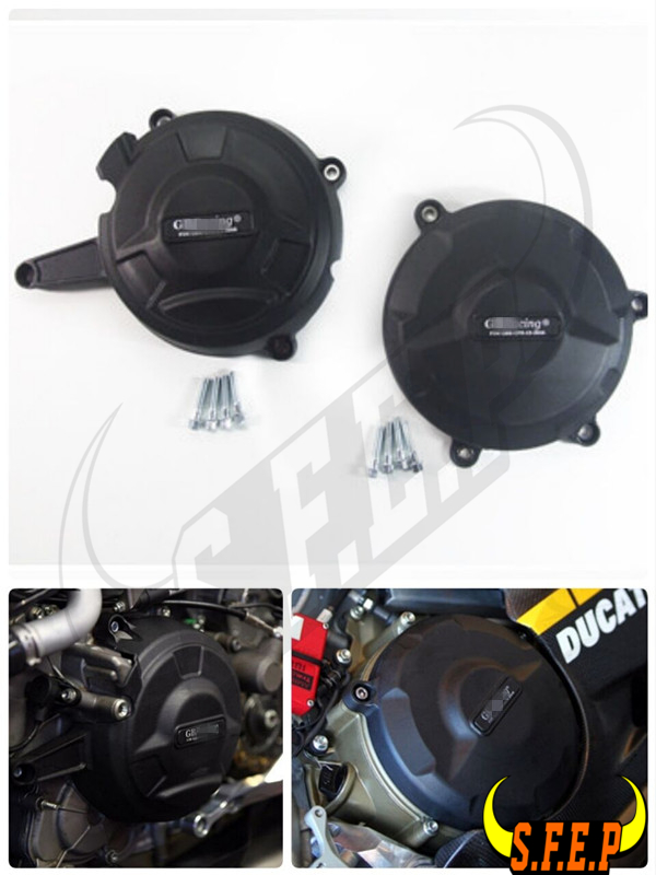 Motorcycle Engine Case Guard Protector Cover GB Racing For Ducati 1199 Panigale 2012 2014 1299 Panigale