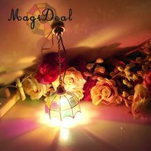 1 шт. кукольный домик, миниатюрный винтажный многоцветный оттенок, подвесная потолочная лампа светильник 12 В для кукольного домика, декор Acc