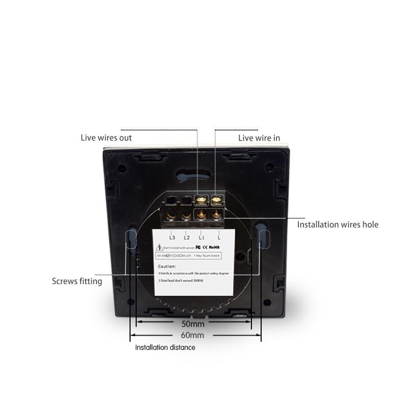 Купить с кэшбэком EU Standard Touch Switch Black Crystal Glass Panel 1 Gang 1 Way Light Switch Touch Screen Wall Switch Wall Socket For Lamp