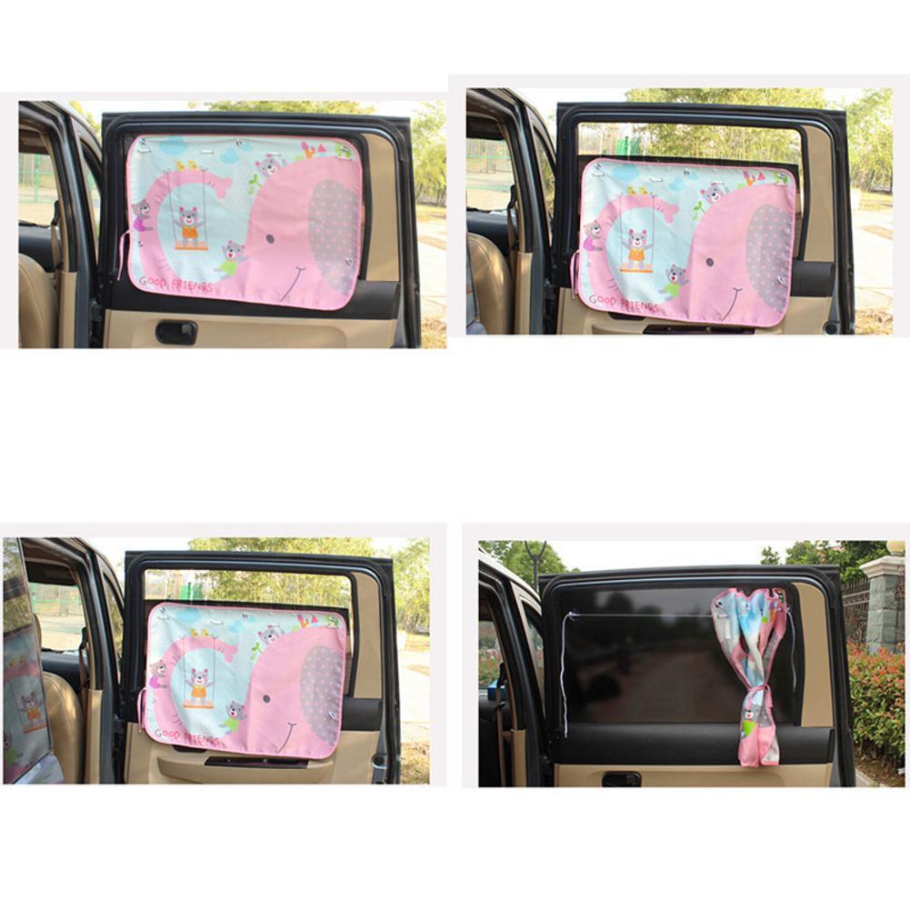 Summer Car Cartoon Curtain Sun Blocking Vehicle Side Blocking Tensile Sunshade Protection Children Supplies Accessories