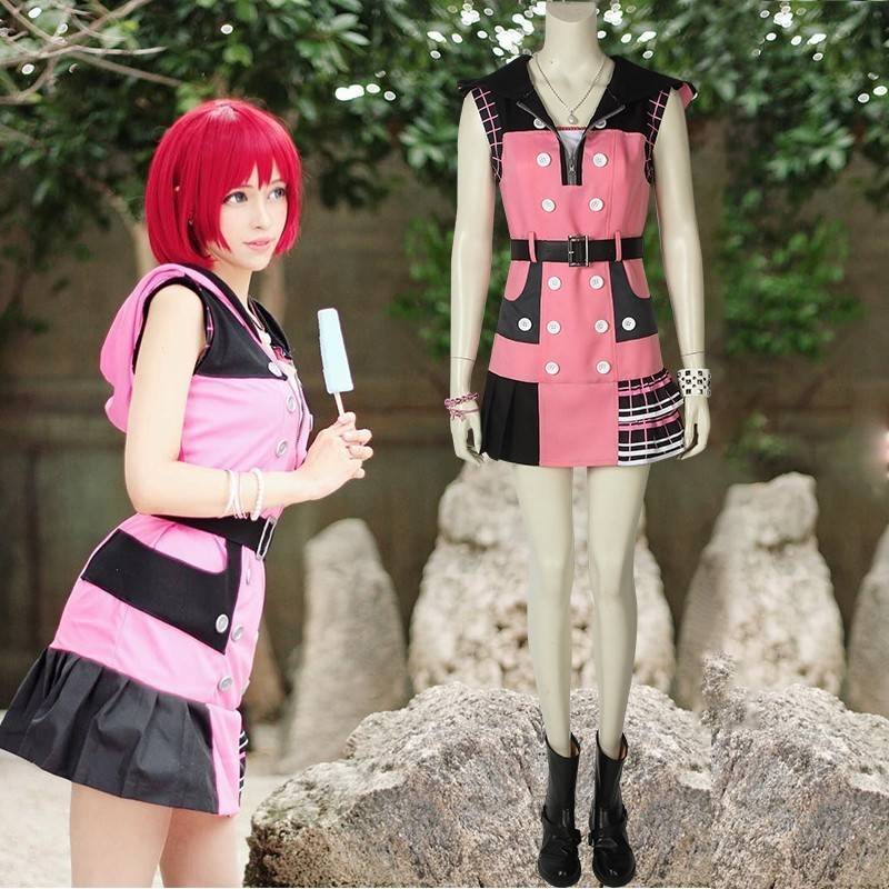 Anime Game Kingdom Hearts 3 Dream Drop Distance Cosplay Kairi Princess of Heart Costume Carnival Adult
