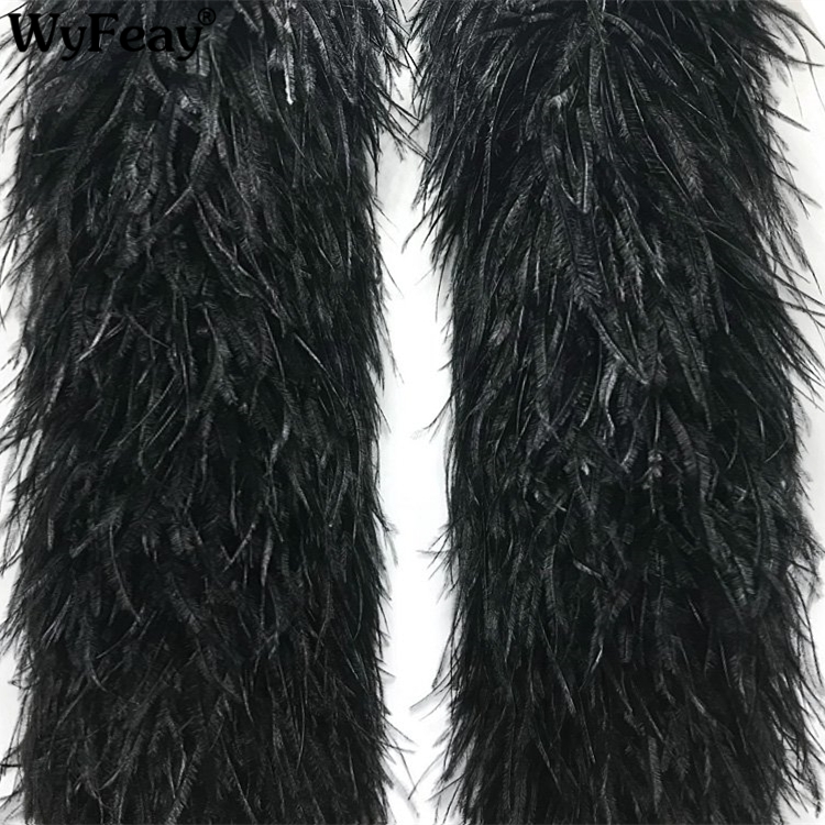 2Meters/Lot White Black (1Ply 3Ply 5Ply 10Ply 20Ply) Ostrich Feathers Boa Trim Skirt Wedding Feathers for Crafts Plumas Plumes2Meters/Lot White Black (1Ply 3Ply 5Ply 10Ply 20Ply) Ostrich Feathers Boa Trim Skirt Wedding Feathers for Crafts Plumas Plumes