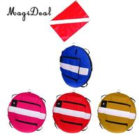 Premium High Visibility Safety Surface Marker Buoy Signal Float & Diver Flag for Freediving Spearfishing Scuba Diving
