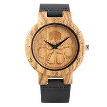 Male Watch Luxury Clock Genuine Leather Strap Quartz Watches