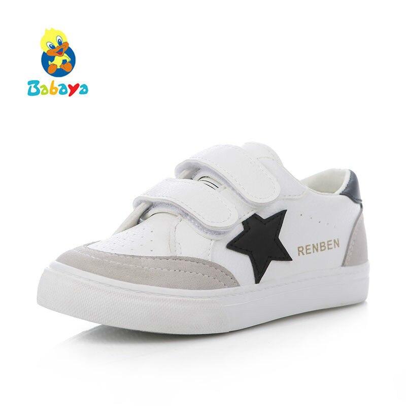 Sepatu anak-anak untuk gadis anak laki-laki sepatu kulit Buatan 2017 musim semi musim gugur baru laki-laki perempuan sepatu sepatu fashion putih