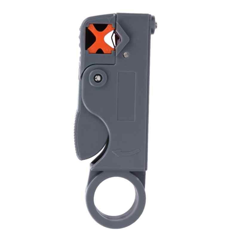 1 Pc Domésticos Ferramenta Multi Cabo Coaxial Stripper/Cortador Ferramenta Rotary Coax Stripper para RG59/6/58 ferramenta Descascador De Fios da Rede de Metal