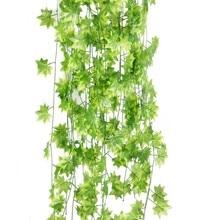 2M Fake Vines Artificial Ivy Foliage Maple Leaf Garland Garden Market Home Decor Plastic Flower Rattan Decoration