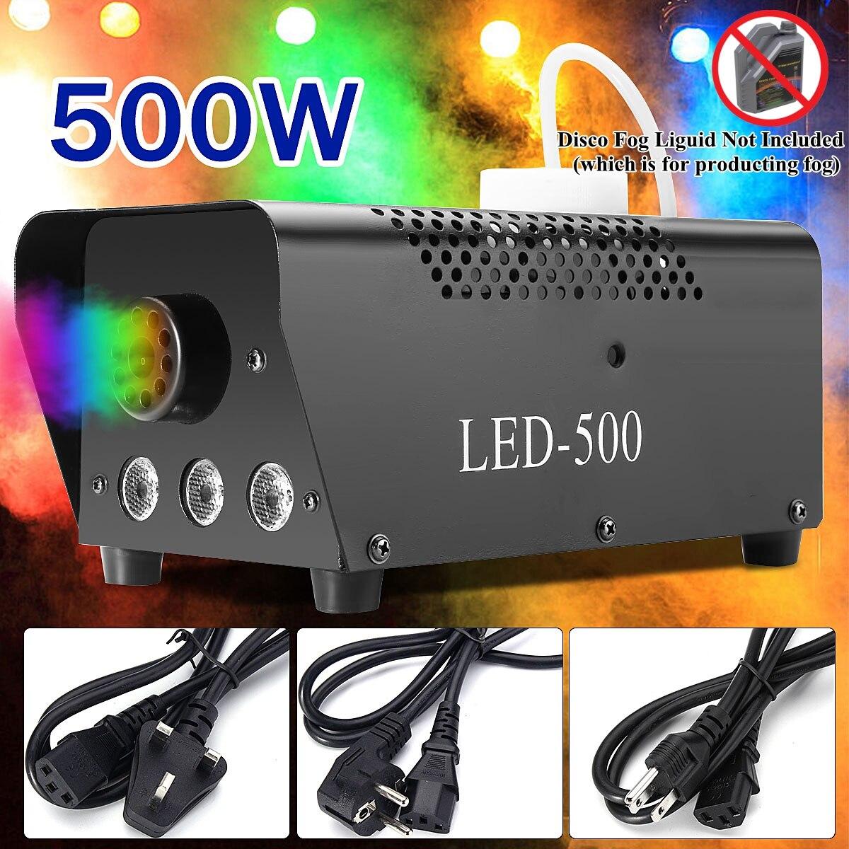 500 Вт удаленный активированный туман дым машина светодио дный светодиодный свет диско Рождество лампа RGB дымовой проектор DJ вечерние партии...