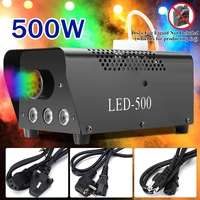 500W Remote Actived Fog Smoke Machine LED Disco Light Christmas Lamp RGB Smoke Projector DJ Party Stage Christmas Decoration