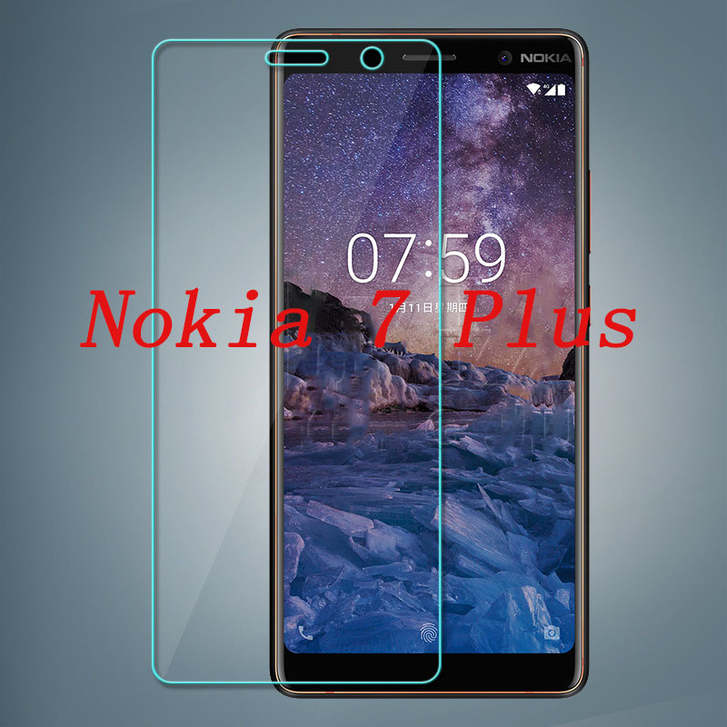 2PCS Smartphone Tempered Glass 9H Explosion proof Protective Film Screen Protector mobile phone for Nokia 7 Plus 7plus in Phone Screen Protectors from Cellphones Telecommunications