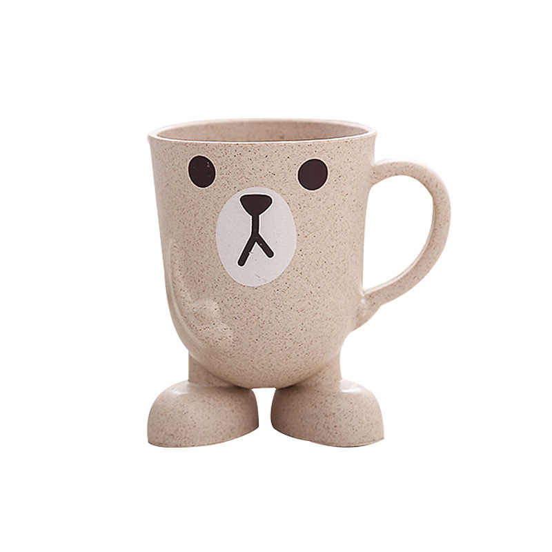 Оригинальная чашка из пшеничной соломы, мультяшная чашка, трехмерная основа, чашка для полоскания, для домашнего туалета, чашка для чистки зубов, кружки