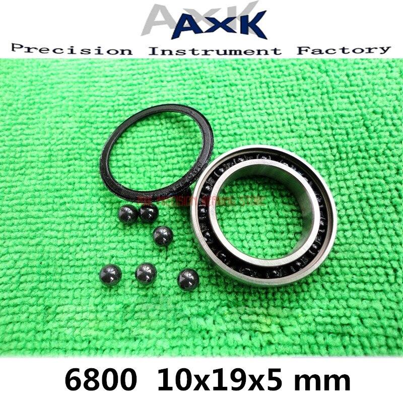 2019 Sale 1pcs Abec-7 6800 Hybrid Ceramic Bearing 10*19*5 Mm Bicycle Bottom Brackets & Spares 6800rs Si3n4 Ball Rodamientos