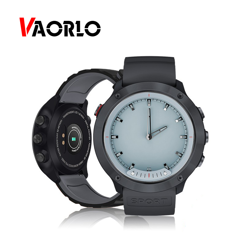 VAORLO M5 Smart Watch Luminous Hands Heart Rate IP68 Waterproof Men Smartwatch Band Stainless Steel Clock